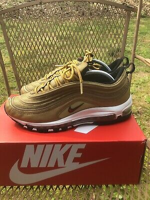 NIKE AIR MAX 97 OG QS Metallic Gold Size 9.5