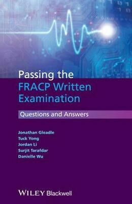 NEW Passing the FRACP Written Examination By Jonathan Gleadle Paperback