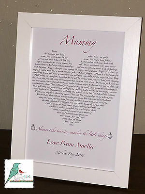 Mummy, Nan, Grandma love heart personalised poem print - Gift for any occasion