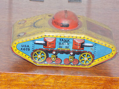 Tin Tank Bank From WWI