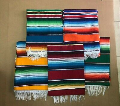 5 Piece Wholesale Set , Serape Xxl,5'X7', Mexican Blanket , Hot Rod . Assorted