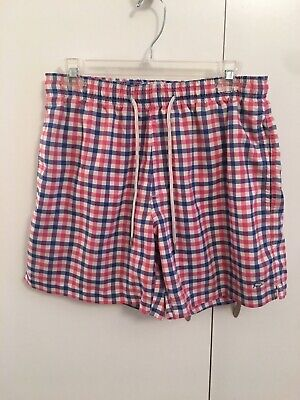 bd583662c539c Southern Tide Skipjack Men's Plaid Preppy Swim Trunks Board Shorts Size S  NEW