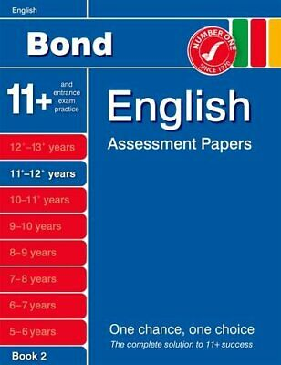 Bond English Assessment Papers 11+-12+ years Book 2 by Lindsay, Sarah Book The