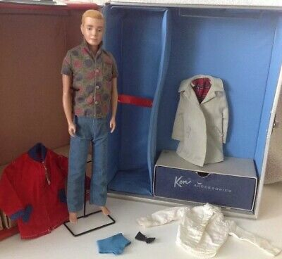 Original Vintage 1960 Ken Doll With Clothes In Great Condition