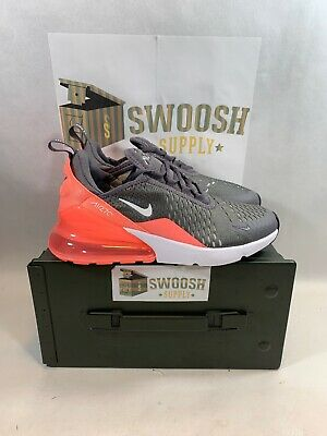 8738bd8b7f Nike Air Max 270 GS Youth Size 5.5Y GUNSMOKE WHITE-LT ATOMIC PK 943346