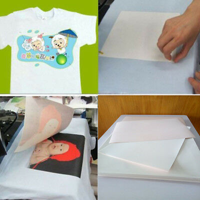 100pcs A4 Sublimation Paper Iron On Heat Press Transfer Paper Non-cotton T-shirt