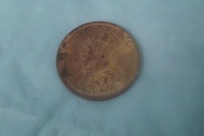1915 Large Cent Full Red Choice Unc.