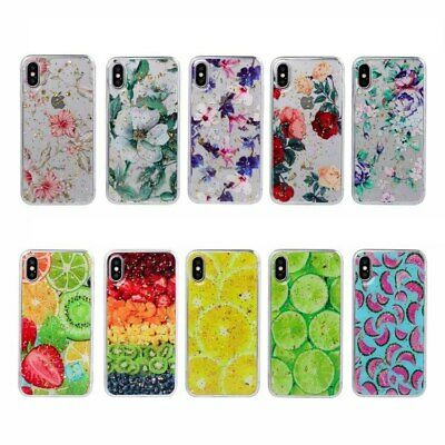 Retail For iPhone XS Max XR 7 8 6 Plus epoxy Flower Fruit Print Soft Case Cover