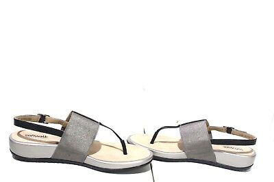 fa0ecec348e0 06-2249 SoftWalk Womens Daytona Leather Open Toe Casual Slingback Sandals  sz 7.5
