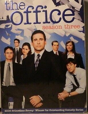 The OFFICE The COMPLETE SEASON THREE 22 Episodes + Bonus Features 4-Disc SEALED