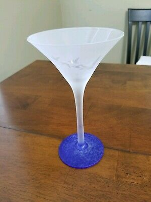 Grey Goose Frosted Blue Bottom Martini Glass - Looks Nice