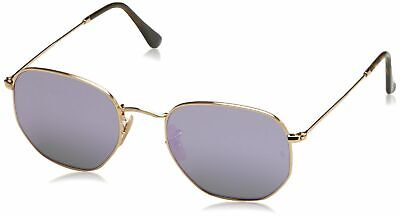 Ray-Ban Men's Metal Man Non-Polarized Iridium Square Sunglasses, Gold, 54 mm