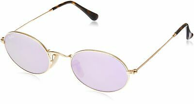 Ray-Ban Metal Unisex Non-Polarized Iridium Round Sunglasses, Gold, 51 mm Color:G