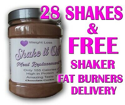 28 x Meal Replacement Weight Loss Diet Shakes Slimming Protein VLCD SHAKE IT OFF