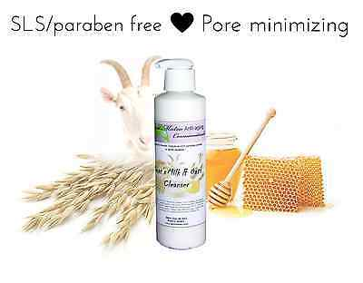 Natural Bioactive PORE MINIMIZING Face Cleanser Wash SLS & paraben Free Oats