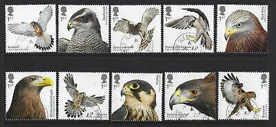 Great Britain 2019 Birds Of Prey Fine Used Set Of 10 Singles