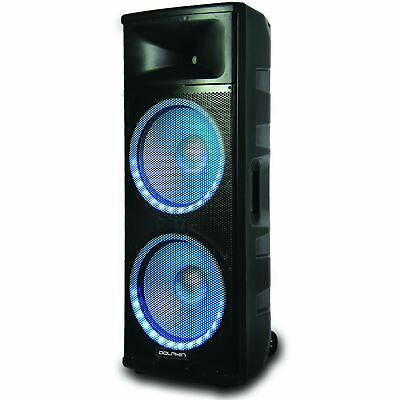 Dolphin SPX-280BT ELITE Series Dual 15 Inch Party Speaker with RAVE™ Light