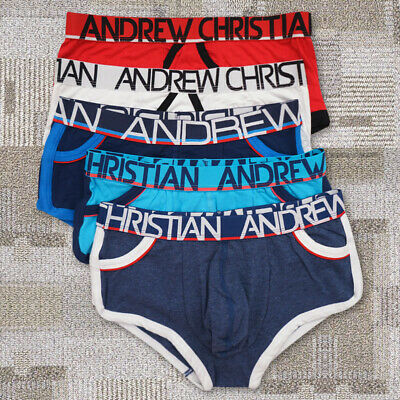 NEW 5 Pack Andrew Christian Mens Almost Naked+Show-It Boxer Briefs Underwear  S