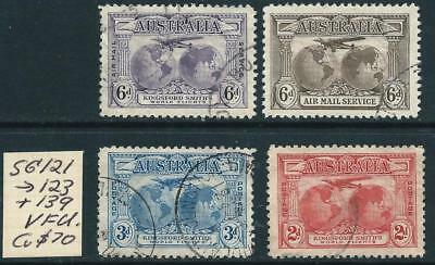 AUSTRALIA - 1931 KINGSFORD SMITH Set to 6d 'VIOLET' AIRMAIL SG121/139 VFU [6041]