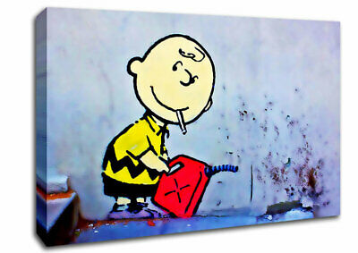 Banksy Bad Boy Charlie Canvas Wall Art Picture A4 A3 A2 A1 Print Ready To Hang