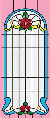 Dollhouse 1//12 Scale Classics Simulated Leadlight Stained Glass Window Insert 05