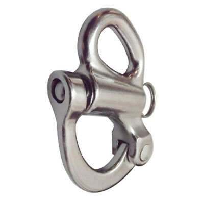 """Stainless Steel T316 Fixed Snap Shackle Quick Release Clip 3-3//4/"""" Long"""