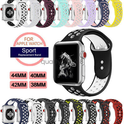 Apple Watch Band, iWatch Series 5 4 3 2 Sport Silicon Strap 44mm 40mm 42mm 38mm