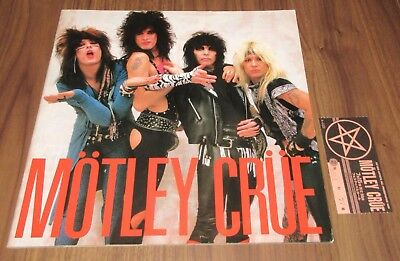 With TICKET STUB! Motley Crue JAPAN tour book 1985 CONCERT PROGRAM more listed