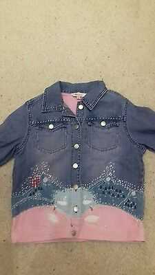 Monsoon Girls Appliqued Faries  . Jacket t Age 8-10 years