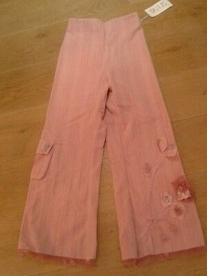 Brand New Stunning Girls 'SULK ' Cord Trousers  with detail Age 11. Pink  BNWT