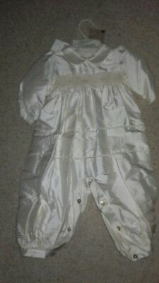 Pretty Originals silk Christening /Wedding  outfit. To age 12 months