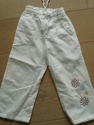 """White  Embroidered Trousers by """"Mayoral"""" ~ Age 4 Years"""