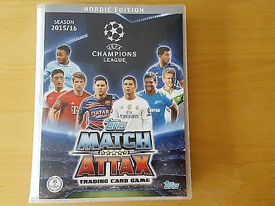 Champions League 15/16 Match Attax. Complete NORDIC Binder (500 cards + 16 nord)