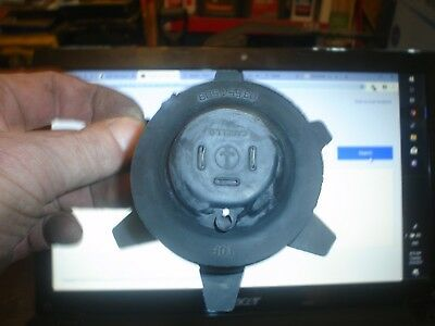 Motorcycle H4 headlight bulb dust cover - rubber