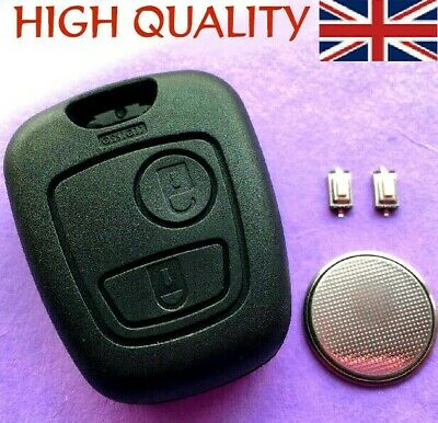 For Peugeot 307 2 Button Remote Key Fob Case Shell Repair Refurbishment Kit