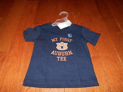 NEW Auburn T Shirt 6M My First months boys navy blue baby football infant tee