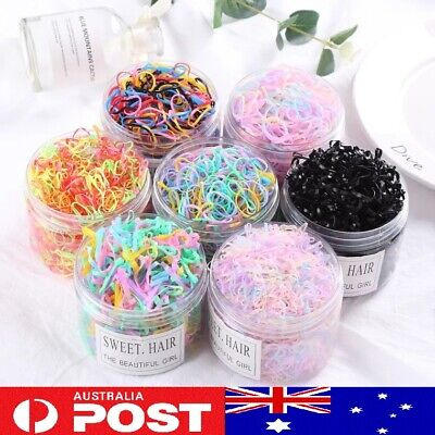 20pc 100pc Elastic Rubber Hair Ties Ropes Colorful Women's Ponytail Holder Thick