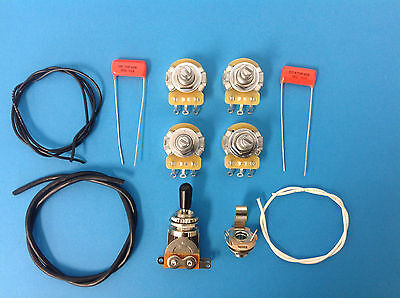 Guitar Parts Les Paul Wiring Kit Short Shaft for Epiphone or Import Les Paul