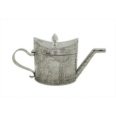 Antique Victorian Sterling Silver Miniature Teapot - 1890