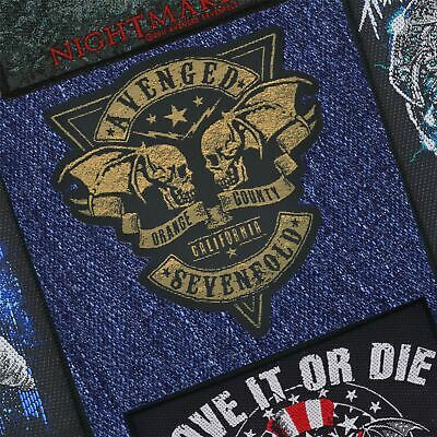 Official Avenged Sevenfold Orange County Cut Out Woven Patch