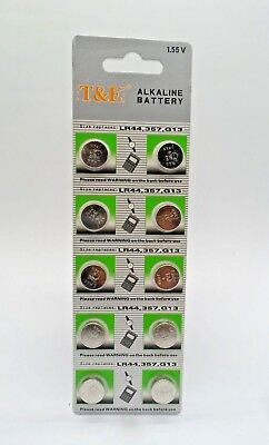 50 x AG13, G13, SR44, LR44, A76, V13GA, PX76A, 357 Alkaline Button Batteries UK