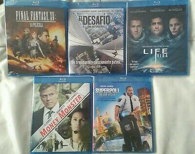 Peliculas blu ray -Precintadas Money monster, final fantasy XV, life, el desafío