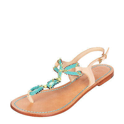 Flats Trustful Blugirl Blumarine Beachwear Thong Sandals Size 37 Uk 4 Flowers Made In Italy Clothing, Shoes & Accessories