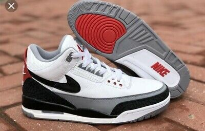 647af532a NIB DS NIKE Air Jordan Retro 3 III White Fire Red Cement OG Size 8 ...