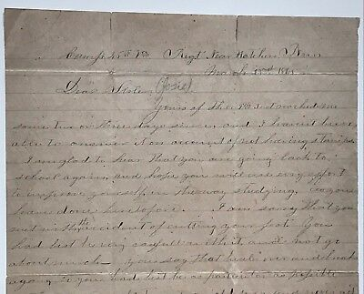 "Confederate Civil War letter: ""Hatcher's Run"" the siege of Petersburg.1865"