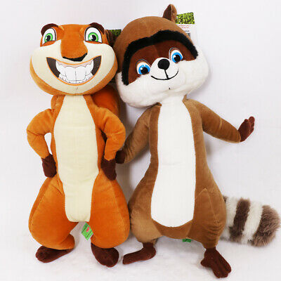 """Over The Hedge Set Of Two Rj And Hammy 15"""" Soft Plush Cuddly Toys"""