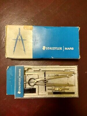 Staedtler Masterbow 551 01 Sk Compass Set Nuovo Anni '70