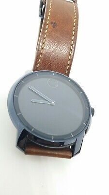dcdfaf334 Mens Movado Bold Ink Navy Blue Dial Leather Strap Watch 3600470  MB.01.1.34.6309
