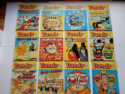 x12 VINTAGE DANDY Comic Library No 28-39 1984 British Comics Libraries Laughter