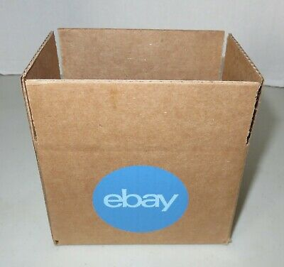"""25 Count EBAY Branded Shipping Boxes 6"""" x 4"""" x 4"""" With Blue 2-Color Logo NEW"""